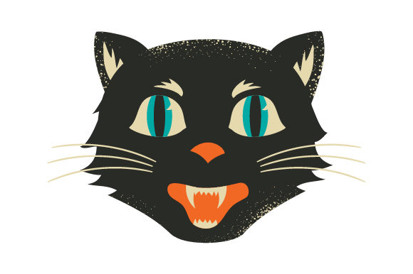 Vintage Halloween Cat Halloween Craft Cut File By Creative Fabrica Crafts - Image 1