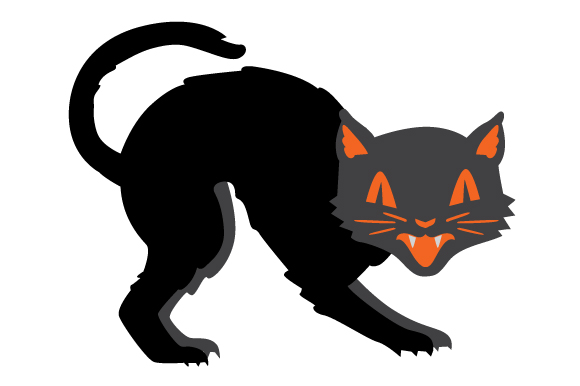 Vintage Halloween Cat Svg Cut File By Creative Fabrica Crafts Creative Fabrica