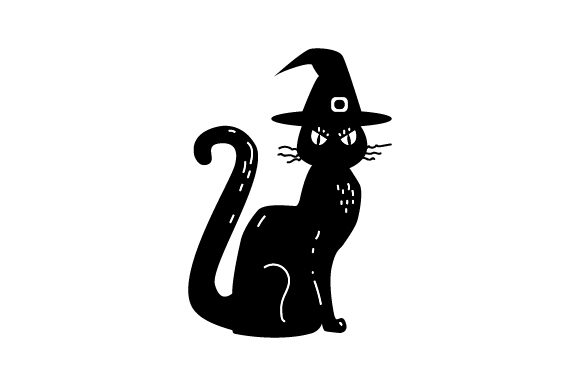 Download Free Vintage Halloween Cat Svg Cut File By Creative Fabrica Crafts for Cricut Explore, Silhouette and other cutting machines.