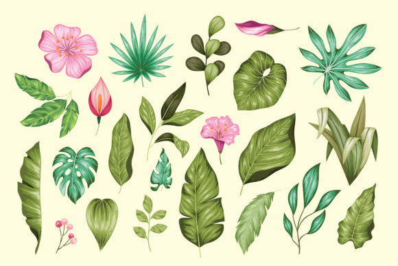 Vintage Hand Drawn Floral Collection Graphic Crafts By AllmoStudio