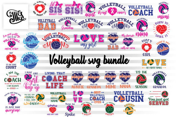 Volleyball Svg Bundle Graphic Crafts By Illustrator Guru
