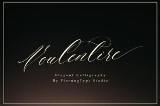 Voulentire Font By missinklab