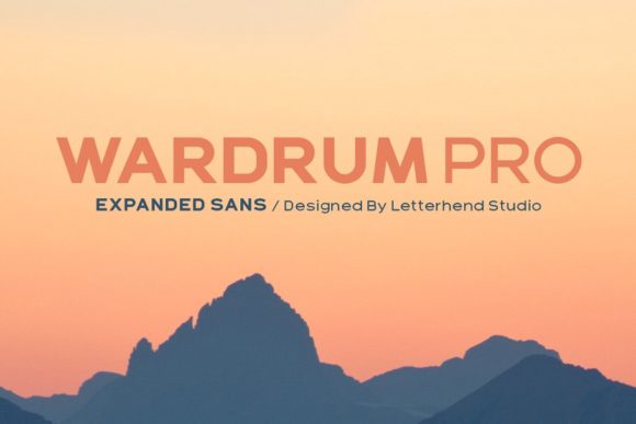 Print on Demand: Wardrum Pro Sans Serif Font By letterhend