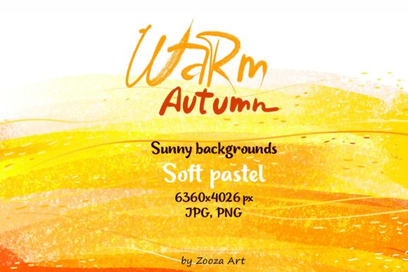 Print on Demand: Warm Autumn Sunny Pastel Backgrounds Graphic Backgrounds By Zooza Art