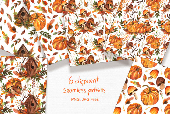 Watercolor Autumn Collection Graphic By tanatadesign Image 4