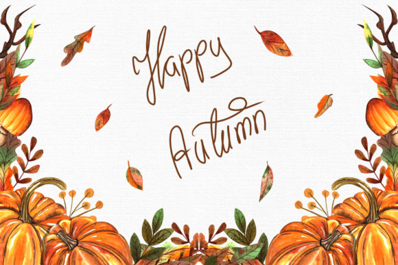 Watercolor Autumn Collection Graphic By tanatadesign Image 7