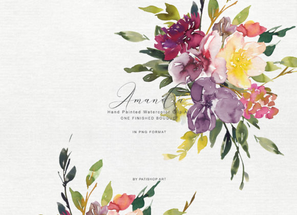Watercolor Autumnal Bouquet Clipart Graphic Illustrations By Patishop Art