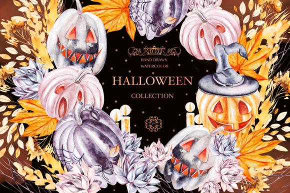 Watercolor Halloween Collection Graphic Objects By Knopazyzy