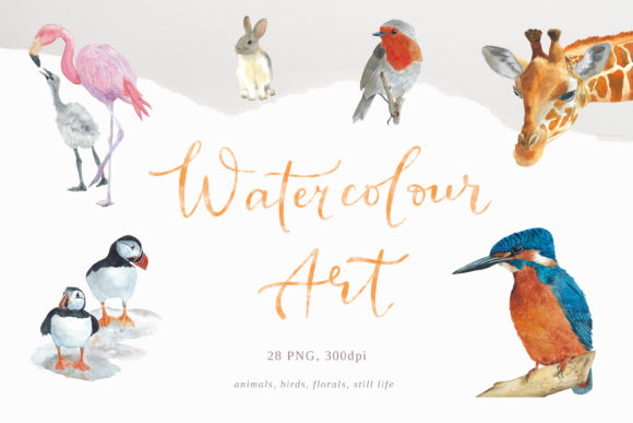 Print on Demand: Watercolour Wall Art, 28 Png Graphic Illustrations By Primafox Design