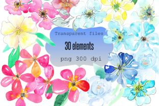 Download Free Watrcolor Flowers Clip Art Bundle Graphic By Anines Atelier for Cricut Explore, Silhouette and other cutting machines.