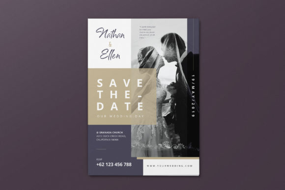 Download Free Wedding Invitation Ai And Psd Flyer 2 Graphic By Alexacrib83 for Cricut Explore, Silhouette and other cutting machines.