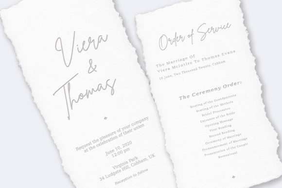 Print on Demand: Wedding Invitation Suite Viera Graphic Print Templates By Primafox Design - Image 2