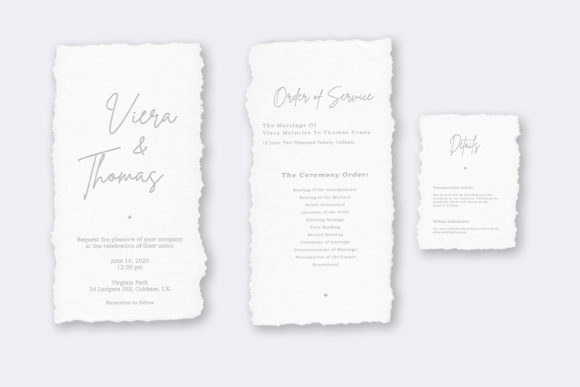Print on Demand: Wedding Invitation Suite Viera Graphic Print Templates By Primafox Design - Image 3