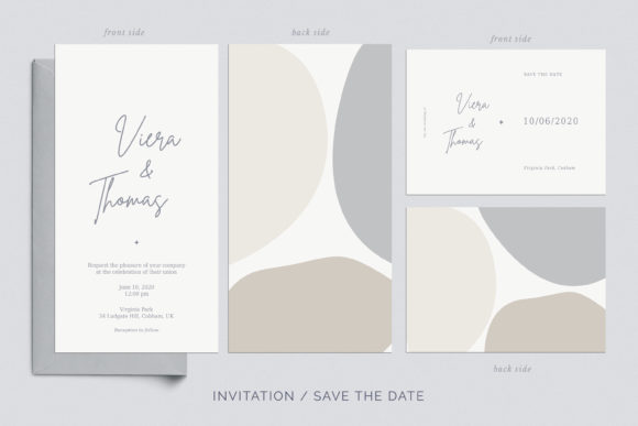 Print on Demand: Wedding Invitation Suite Viera Graphic Print Templates By Primafox Design - Image 4