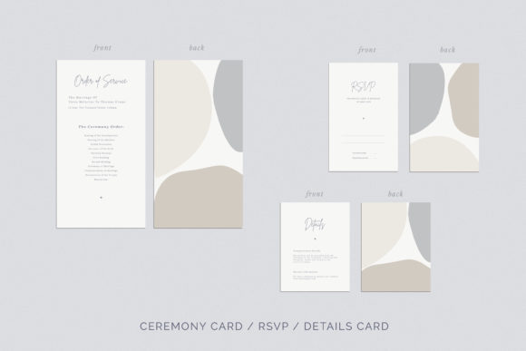 Print on Demand: Wedding Invitation Suite Viera Graphic Print Templates By Primafox Design - Image 5
