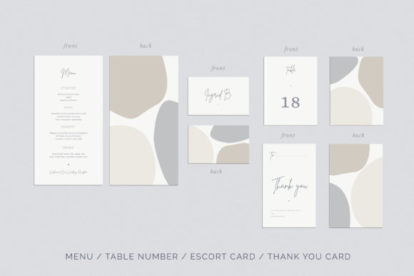 Print on Demand: Wedding Invitation Suite Viera Graphic Print Templates By Primafox Design - Image 6