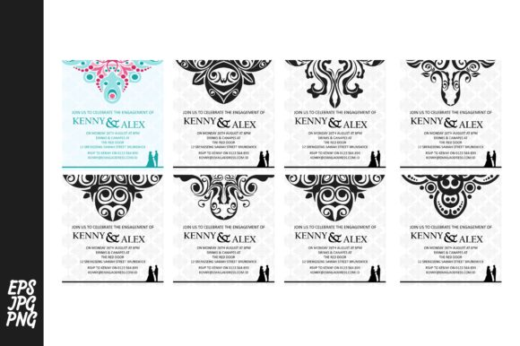 Print on Demand: Wedding Invitation Template Bundle Graphic Actions & Presets By Arief Sapta Adjie