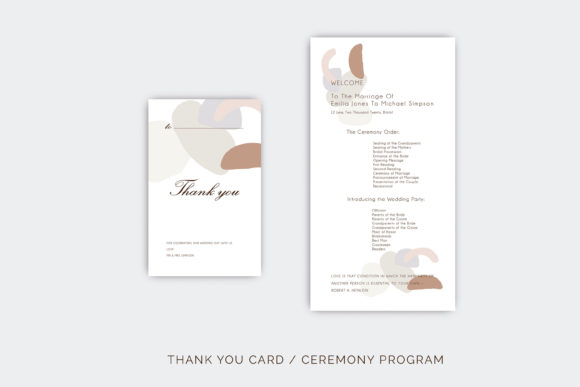 Wedding Template Suite, Graphic By Primafox Design Image 6