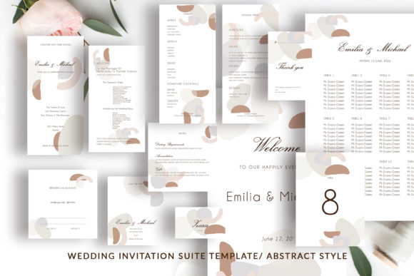 Print on Demand: Wedding Template Suite, Graphic Print Templates By Primafox Design