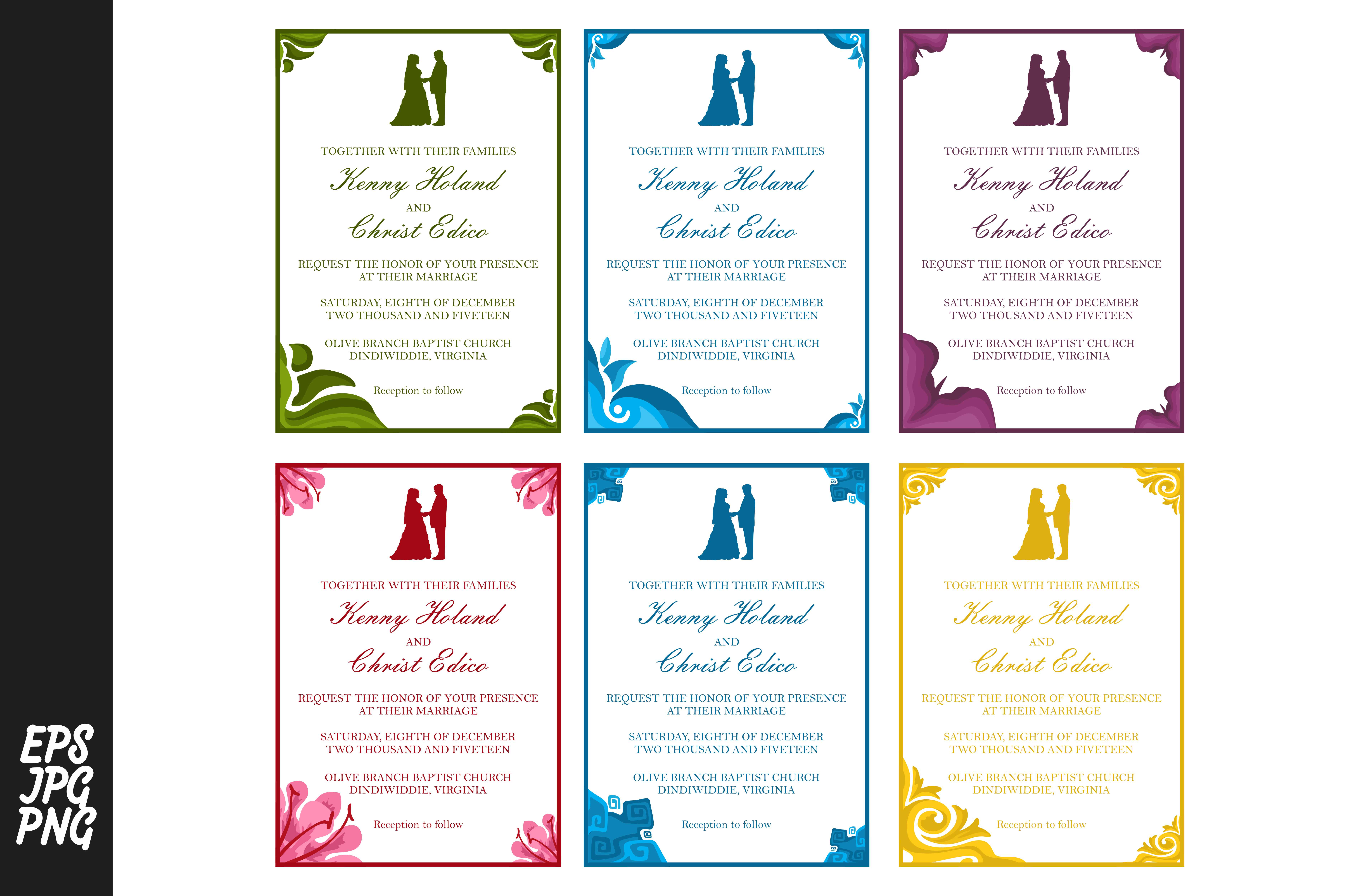 Download Free Wedding Invitation Template Bundle Graphic By Arief Sapta Adjie for Cricut Explore, Silhouette and other cutting machines.