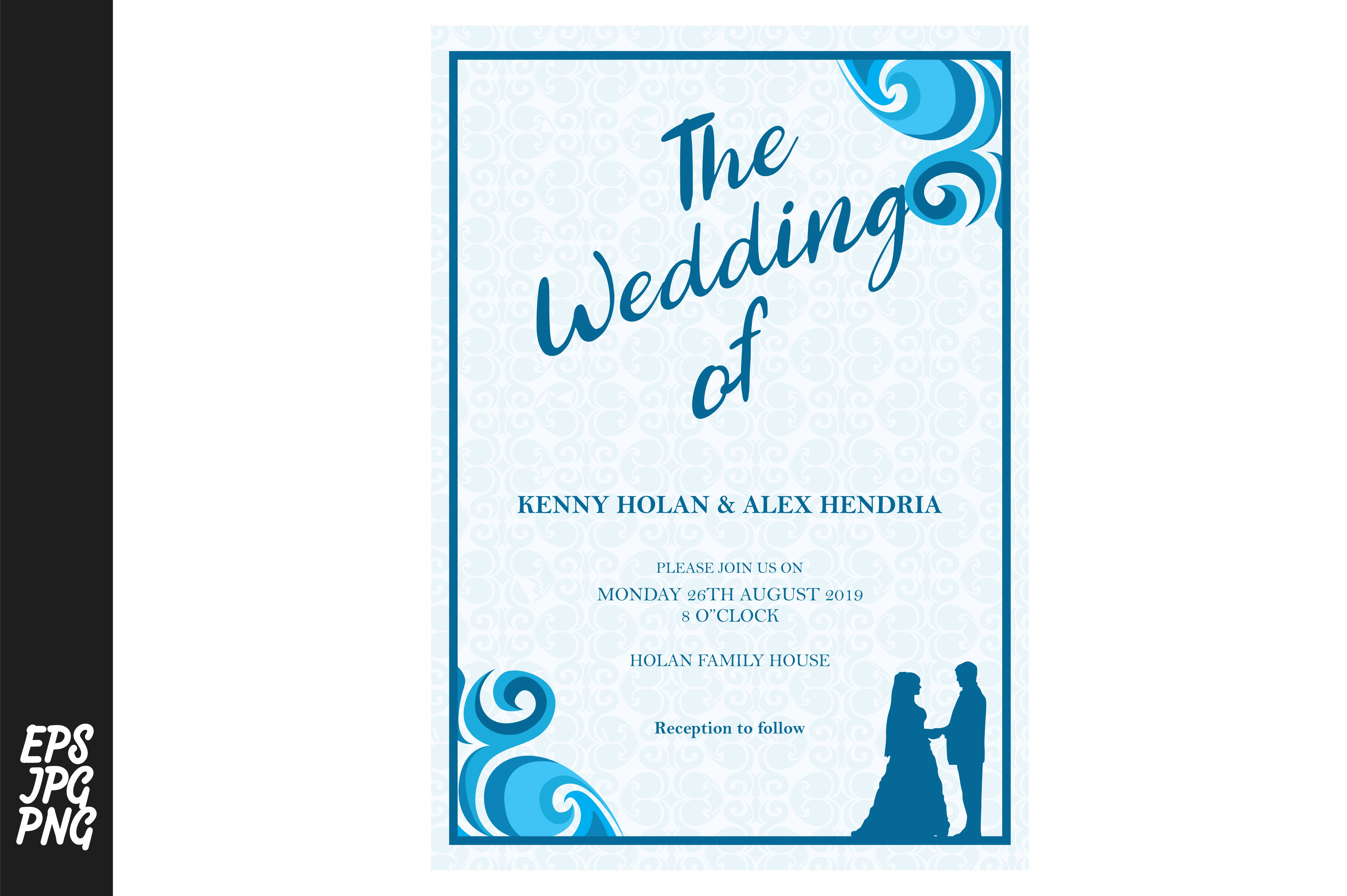 Download Free Wedding Invitation Template Graphic By Arief Sapta Adjie for Cricut Explore, Silhouette and other cutting machines.