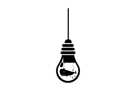 Download Free Whale In Light Bulb Svg Cut File By Creative Fabrica Crafts for Cricut Explore, Silhouette and other cutting machines.