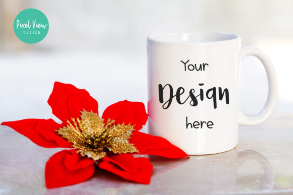 Print on Demand: White Mug Mock-Up Graphic Product Mockups By Pixel View Design