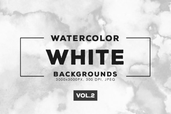 Print on Demand: White Watercolor Backgrounds 2 Graphic Backgrounds By ArtistMef