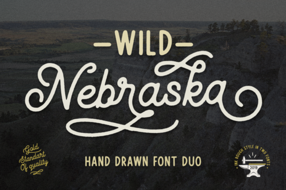 Print on Demand: Wild Nebraska Script & Handwritten Font By Pasha Larin