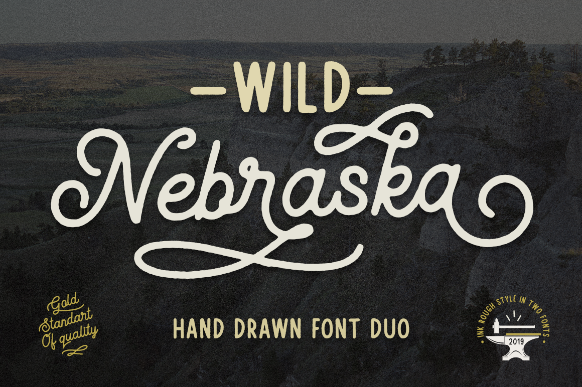 Download Free Wild Nebraska Font By Pasha Larin Creative Fabrica for Cricut Explore, Silhouette and other cutting machines.