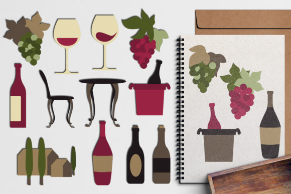 Print on Demand: Wine Tasting Graphic Illustrations By Revidevi