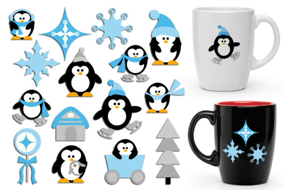 Print on Demand: Winter Penguins Graphic Illustrations By Revidevi - Image 1