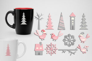 Winter Pink Grey Graphic By Revidevi