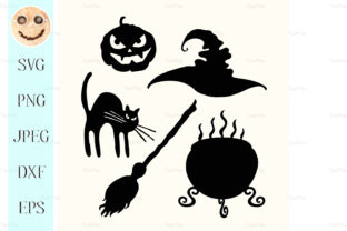 Download Free Witch Hat Graphic By Tasipas Creative Fabrica for Cricut Explore, Silhouette and other cutting machines.