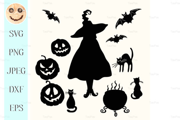 Print on Demand: Witch Pumpkin Lantern Cat Graphic Illustrations By TasiPas