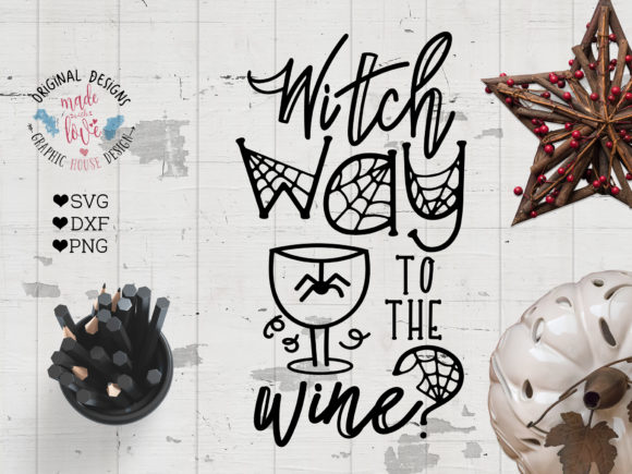 Print on Demand: Witch Which Way to the Wine - Graphic Crafts By GraphicHouseDesign - Image 1