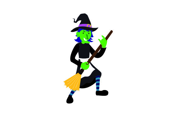 Download Free Witch Using Broom As Guitar Svg Cut File By Creative Fabrica for Cricut Explore, Silhouette and other cutting machines.
