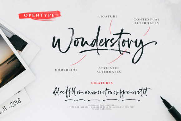 Print on Demand: Wonderstory Script & Handwritten Font By letterhend