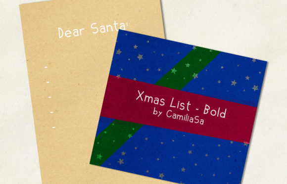 Download Free Xmas List Bold Font By Inkclouddesign Creative Fabrica for Cricut Explore, Silhouette and other cutting machines.