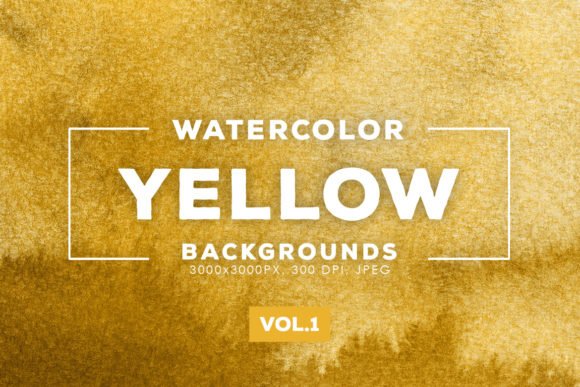 Print on Demand: Yellow Watercolor Backgrounds 1 Graphic Backgrounds By ArtistMef