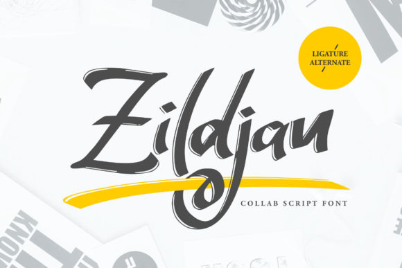 Print on Demand: Zildjan Script & Handwritten Font By Vunira