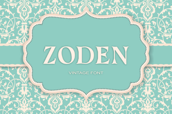 Print on Demand: Zoden Serif Font By maxim.90.ivanov
