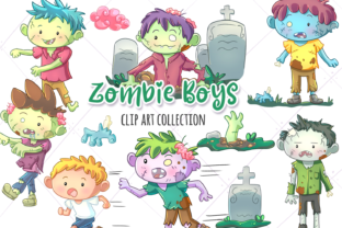Zombie Boys Clip Art Collection Graphic By Keepinitkawaiidesign