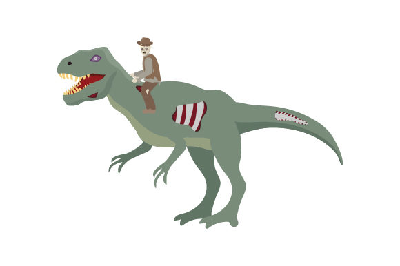 Zombie Paleontologist Riding Zombie Dinosaur Dinosaurs Craft Cut File By Creative Fabrica Crafts