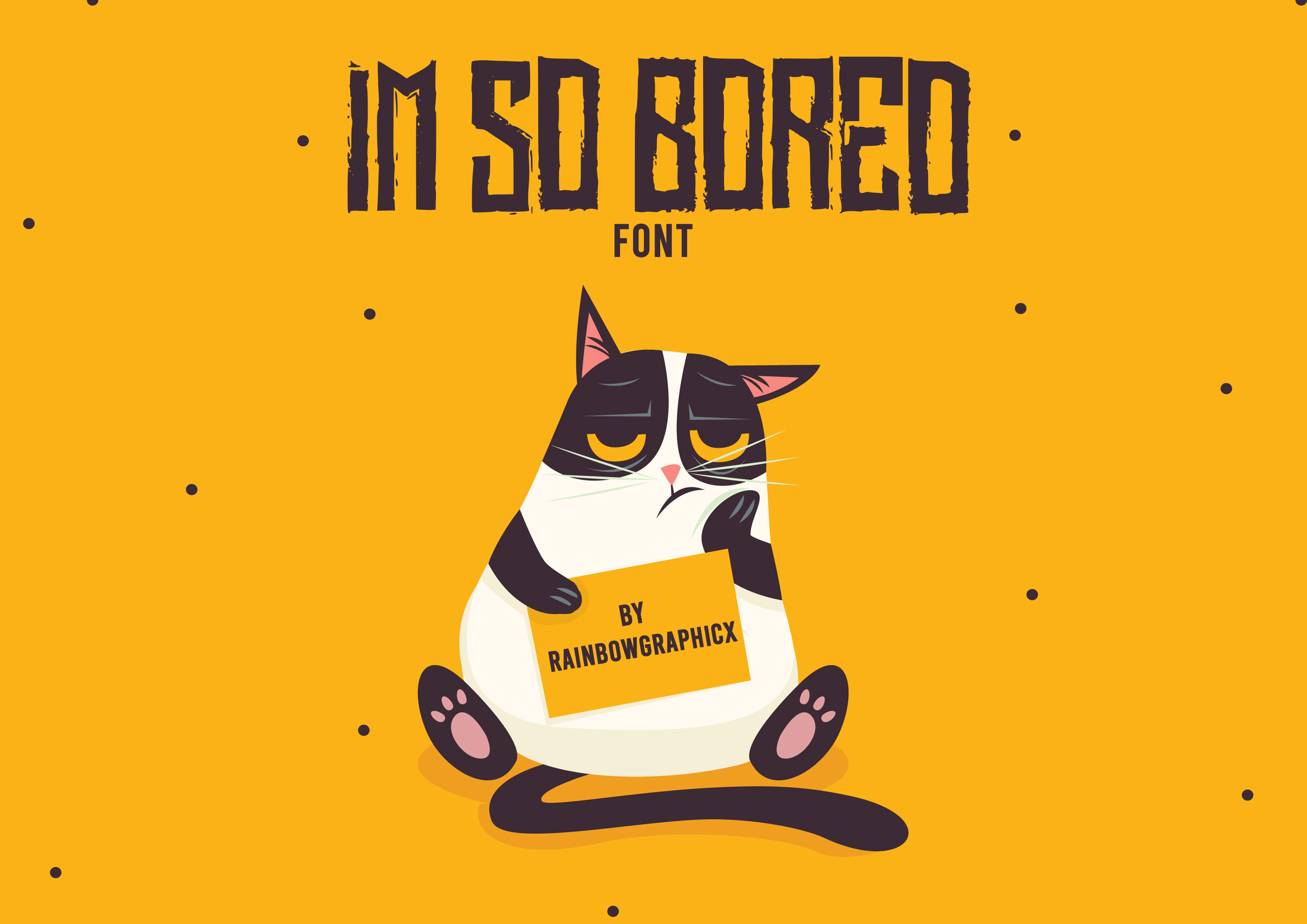 Download Free I M So Bored Font By Rainbowgraphicx Creative Fabrica for Cricut Explore, Silhouette and other cutting machines.