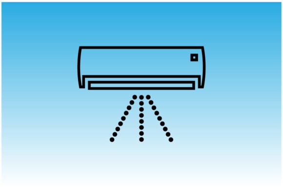 Download Free Air Conditioning Or Ac Icon Graphic By Hoeda80 Creative Fabrica for Cricut Explore, Silhouette and other cutting machines.