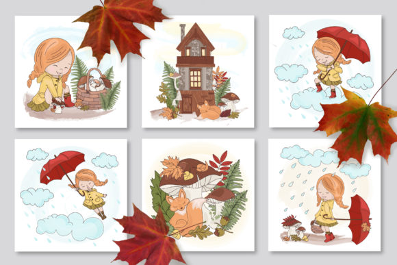 Print on Demand: Autumn Season Cartoon Graphic Illustrations By FARAWAYKINGDOM - Image 4