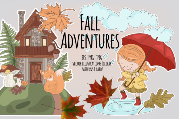 Print on Demand: Autumn Season Cartoon Graphic Illustrations By FARAWAYKINGDOM - Image 1