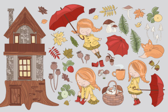 Print on Demand: Autumn Season Cartoon Graphic Illustrations By FARAWAYKINGDOM - Image 10