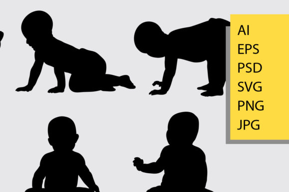Baby Silhouette Graphic Illustrations By Cove703 - Image 2